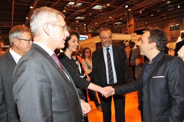Frédéric Valletoux et Marisol Touraine rencontrant David Entibi - (c) FAVART